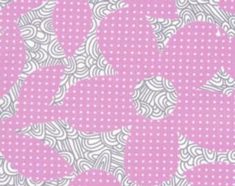 "01821   Erin McMorris Weekends Dots and Loops in violet  color- last 34"" short yard"