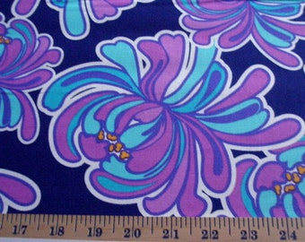06457  VIP LuLu Allover in Navy/Turquoise/Purples -  1 yard