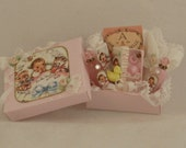 1:12 Scale Sweet Pink Baby Gift Box