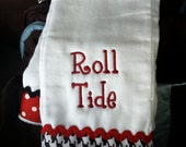 Silly Lilly Kids - House Divided - UGA/Alabama burp cloth and many more schools