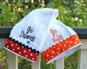 Silly Lilly Kids - House Divided - UGA / UT burp cloth and many more schools
