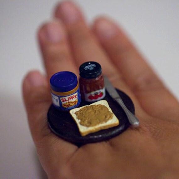 Items Similar To Kawaii Miniature Food Ring Peanut