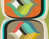 mod pods, mid century design art print