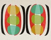pea pods - mid century design art print