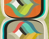 mod pods  - LARGE mid century design art print