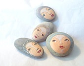 Painted stones. Made to order. 4 stones Original art work, ooak