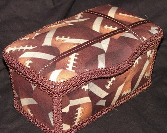 Adorable Football Large Diaper Wipes Tub