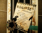 "Handmade Halloween Card ""Checklist"""