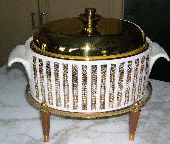 Incredible George Briard chafing dish or casserole with warmer