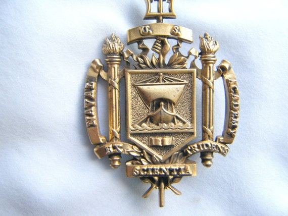 Vintage Gold Naval Academy Uniform Pin Brooch Tie Tack  Nautical Military Gift for Him Fathers Day Gift for Him Gift Sailing the Seas