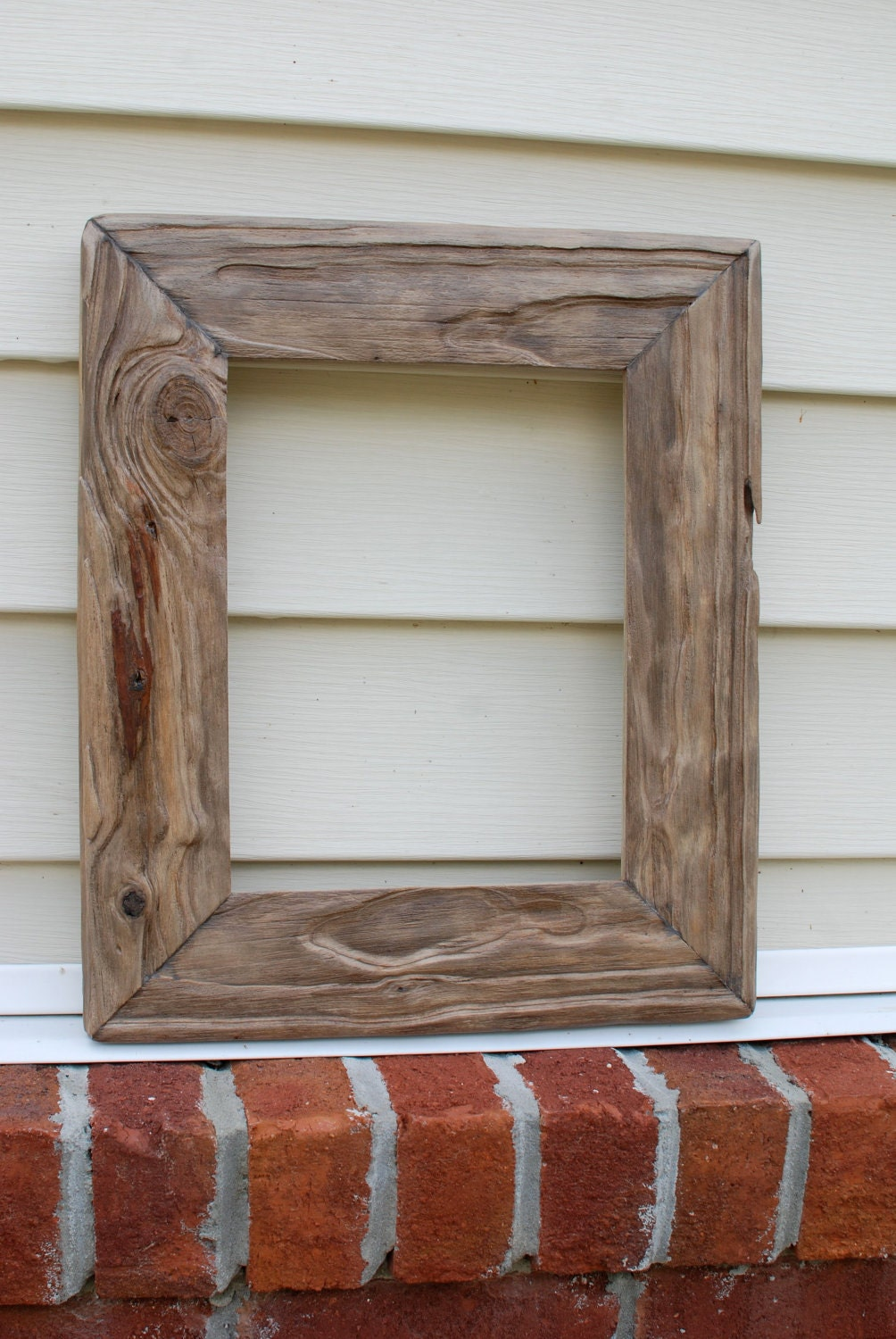8x11 Rustic Driftwood Picture Frame By Oldlikenew On Etsy