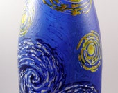 Starry Night Painted Recyled Wine Bottle
