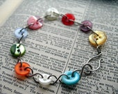 Lollipop: upcycled colorful button bracelet by alwaysgreener