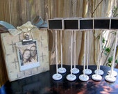 Set of 20 Chalkboard Table Numbers Name Cards Rustic Vintage Painted Distressed Shabby Chic Wedding Chalkboards ON SALE