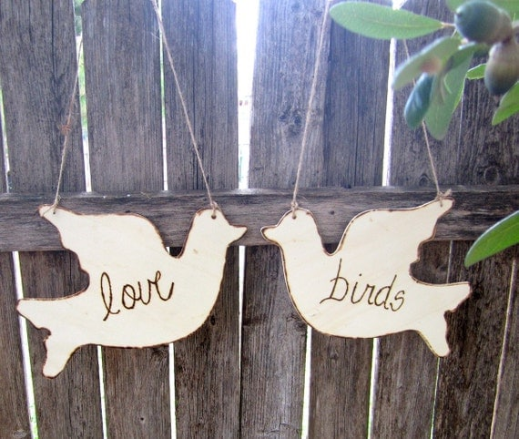 Mr and Mrs Chair Love Bird Signs Shabby Chic Elegant Rustic Woodland Romantic Wedding Signs