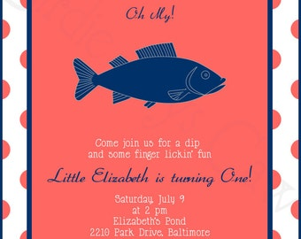 Fish Fry Invitations Etsy