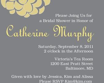 Printable Custom Floral Invitation (Birthday, Baby Shower, Bridal Shower, Engagement, Rehearsal, Wedding)