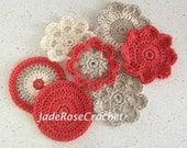 Crochet Coaster Pattern Flowers Plus Bonus Round Coaster PDF506