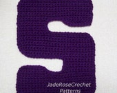 Crochet Letters Patterns S 3D Accent Pillow Alphabet Applique in 5 Sizes