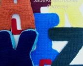 Crochet Letters Pattern Alphabet, 3D Pillows Block Letters, Appliques in 5 sizes All 26 Letters PDF file