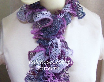 Crochet Scarf Pattern, Ruffled Scarf Pattern, Long and Frilly Scarf Pattern PDF207