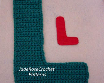 Crochet Letters Patterns L 3D Accent Pillows and Appliques in 5 Sizes