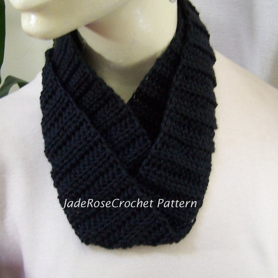 Crochet Scarf Pattern, Infinity Scarf, Double Wrap, Ribbed Cowl, Circle Scarf PDF204