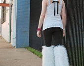 Thigh high fluffies -  Above the knee gogo boot covers Rave Anime Fluffys leg warmers