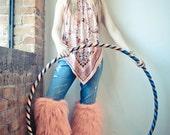 Thigh high Sparkle Fur gogo Fluffies Rave Fluffys Glitter fur