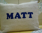 Personalized Quilted Pillow Sham Standard