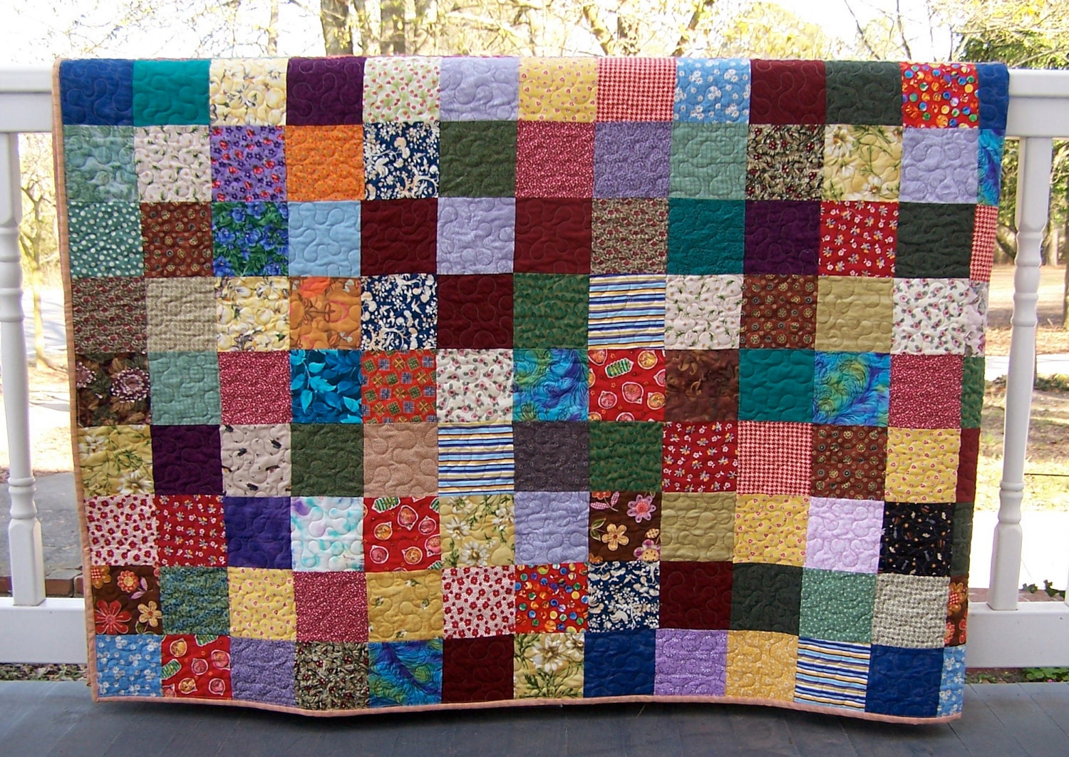 King Bed Patchwork Quilt Country Cousins