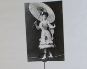 Vintage Russian Circus Series (Girl tightrope walker) Photo Print - 1987. The Planet, Moscow