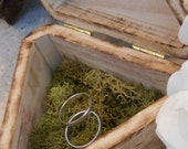 Romantic Woodland Inspired Rustic Ring Bearer Box