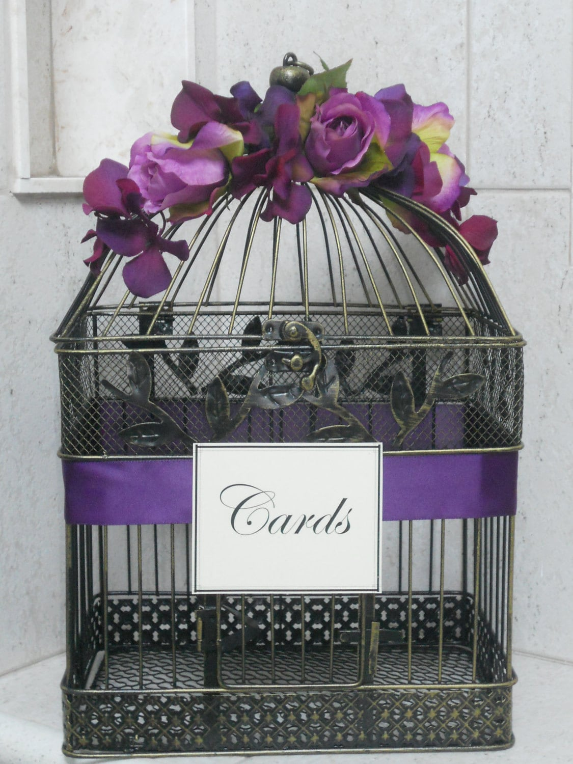 Card Box Wedding Birdcage Card