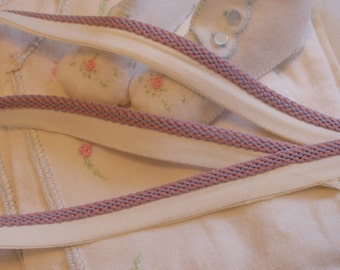 Piping - Beautiful Light Lavender and Pink, Trim, Edging - Baby blankets - Pillows - By the Yard - 1.60