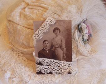 1 Yd - Vintage All Cotton -Cream Swag Trim Heirloom Sewing, Victorian Trim