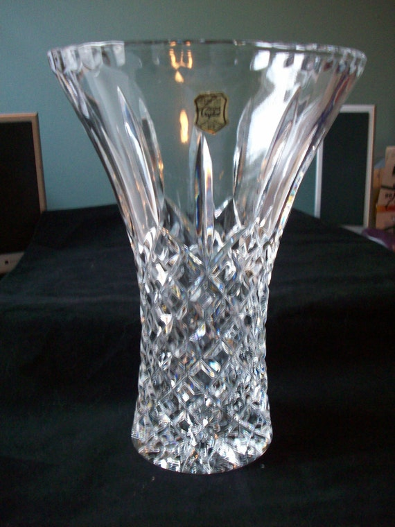 Genuine Hand Cut Lead Crystal Vase Made In By Decadesofdecor