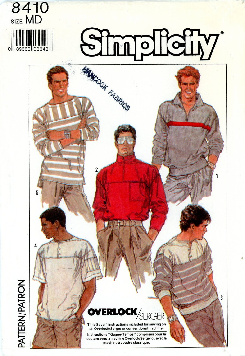 Vintage Sewing Pattern - 1987 Men's or Teen Boy's Pullover Knit Top, ...