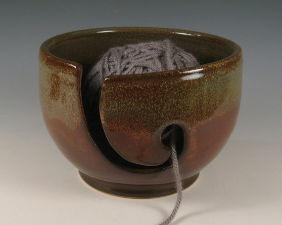 Yarn Bowl - Wheel Thrown Stoneware by Seiz Pottery