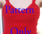 PDF Pattern: Half Knit-Crochet Shirt, No-Sew, 34B AND 40--