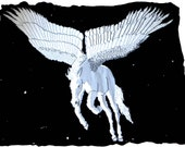 PDF 3x5 Pattern: White Winged Horse