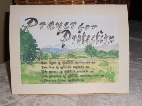 Inspirational PRAYER FOR PROTECTION greeting card