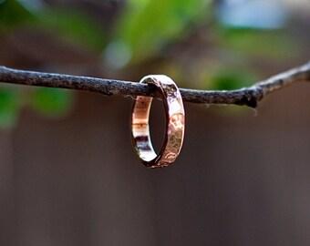 Handmade Hammered Copper Ring
