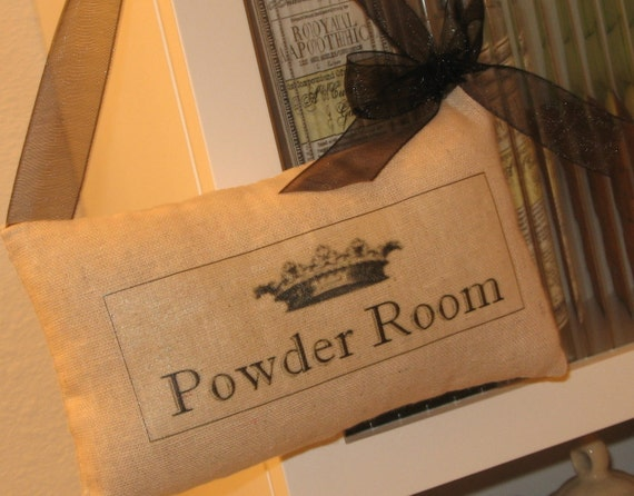 Items Similar To Personalized Door Sign Powder Room