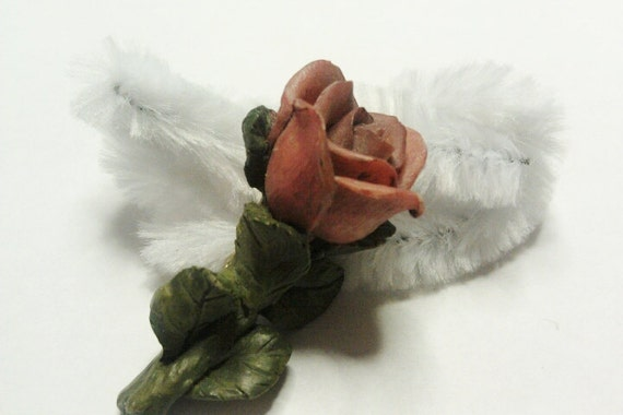 Vintage Flower Rose Pin / Brooch
