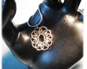 Celtic Knot Pendant: Non tarnish Silver Plated Copper Wire - RESERVED