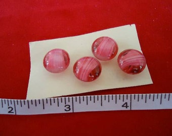 Vintage glass buttons, 4 Two toned, self shaned, very pretty.  UNK/GL5.17-20.1.