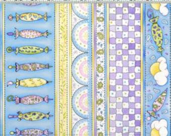 20 x 20 LAMINATED cotton fabric yardage (cotton pul fabric) - BACK laminate cotton PUL - Rainy day umbrella pastel - Makes a nice baby bib