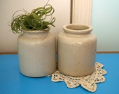 vintage french stoneware mustard pots