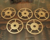 Large Brass Gears 38mm across-- Steampunk and Scrapbooking Supplies